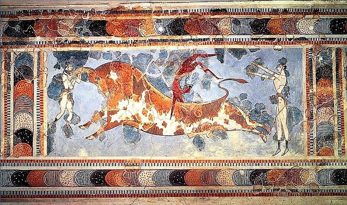Таврокатапсия (фреска из Кносса)