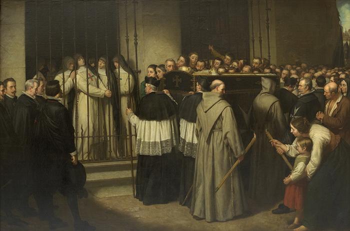 И.С. Льянос. Похороны Лопе де Веги