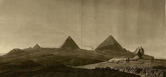 Рисунок Д. Денона, сделанный во время Египетского похода