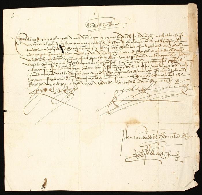Документ, подписанный католическими королями