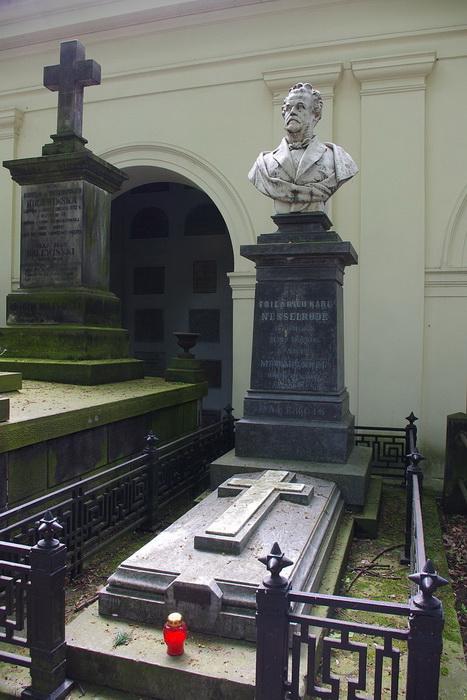 Могила Карла Нессельроде и его дочери Марии Калергис в Варшаве