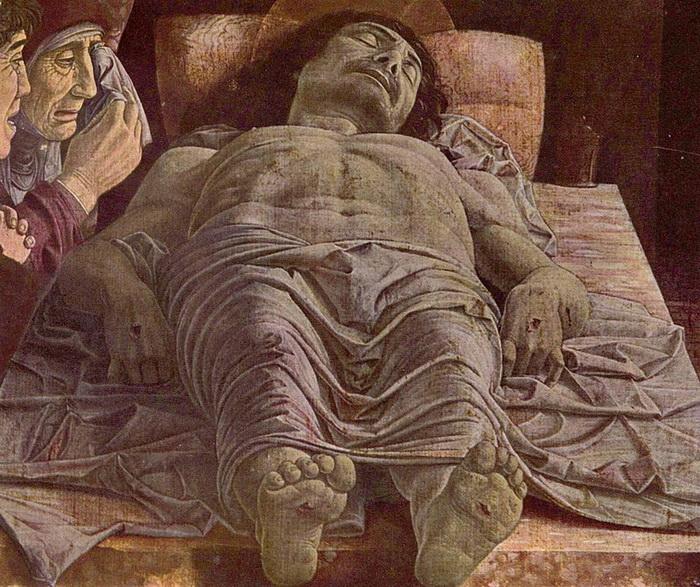 А. Мантенья. Мертвый Христос.