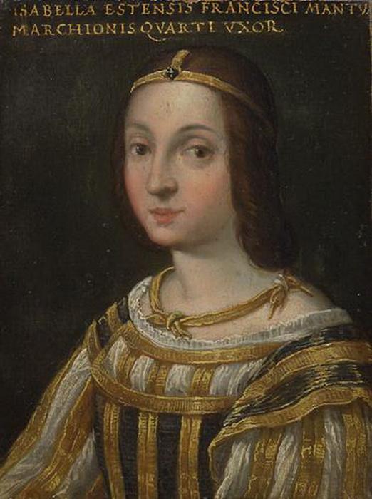 Изабелла д'Эсте. Миниатюра.