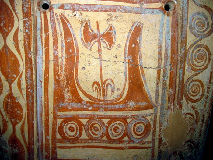 Изображение лабриса на фреске из Кносса