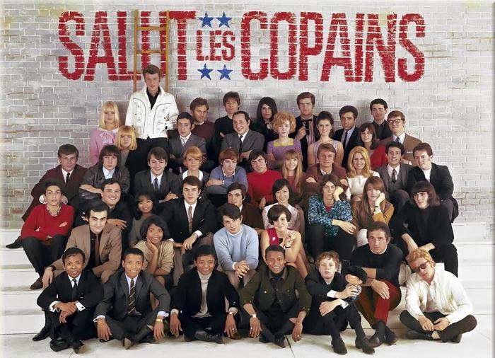 Серж Генсбур на так называемом «фото века» - ведущими музыкантами в стиле йе-йе, на снимке также можно найти Джонни Холлидея, Клода Франсуа, Сальваторе Адамо