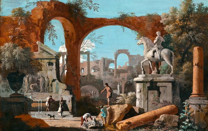 М. Риччи. Римские руины