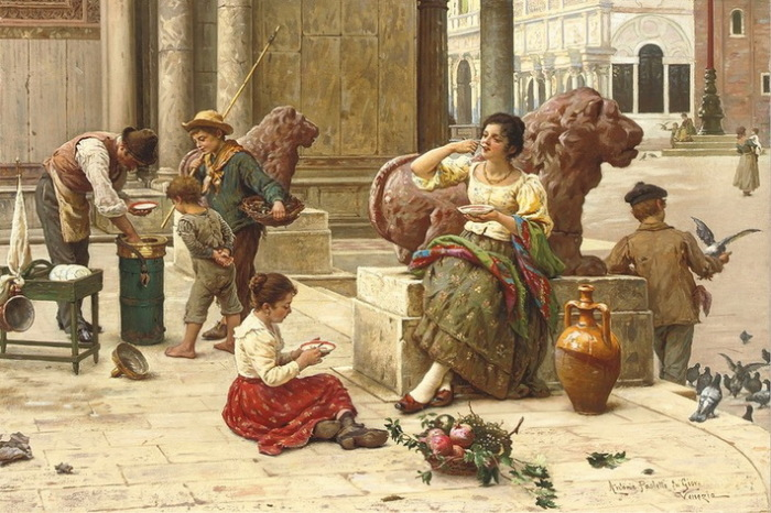 """Антонио Паолетти, """"Венецианский продавец мороженого"""""""