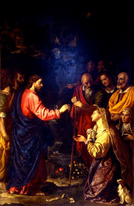 А. Аллори. Христос и хананеянка