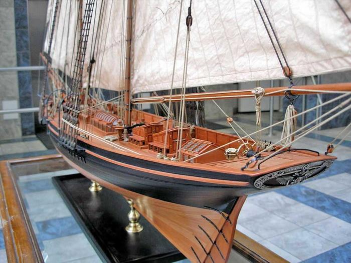 Модель яхты «Королева Виктория», подаренной английским двором Николаю I