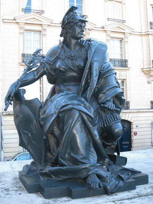 «Европа» П.А. Шеневерка в числе прочих изображавших части света скульптур была создана специально к выставке 1878 года