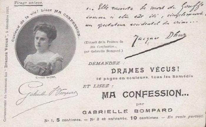 Выйдя на свободу, Бомпар делала попытки привлечь внимание к своей истории, выступала на вечерах, но затея оказалась провальной