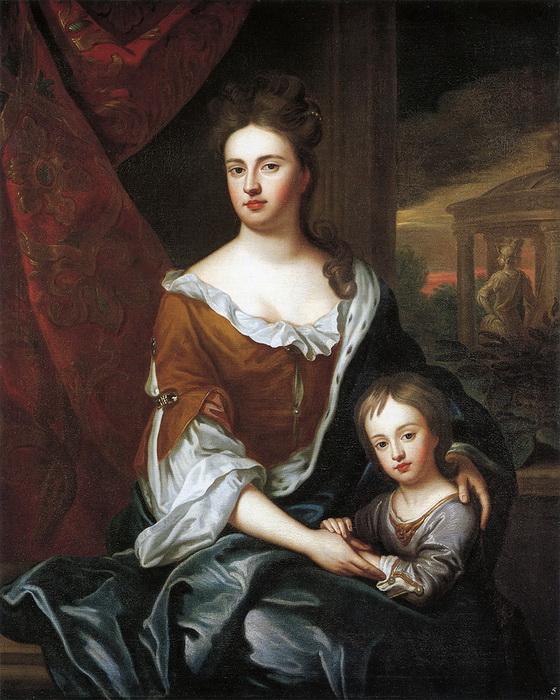 """Г. Кнеллер """"Королева Анна с сыном Уильямом"""""""