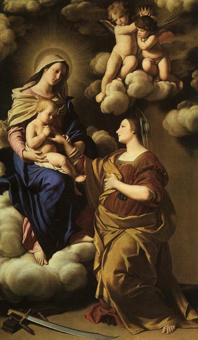 Сассоферрато. Обручение Святой Екатерины
