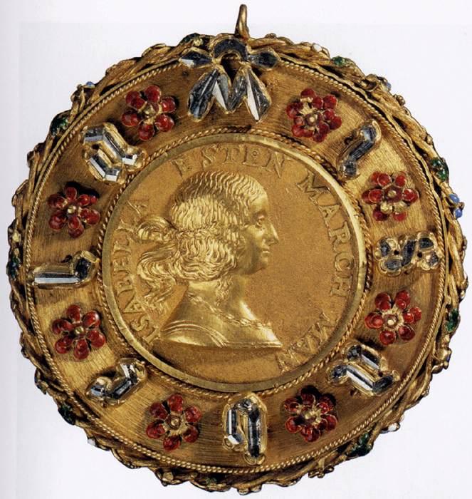 Изображение Изабеллы на медали