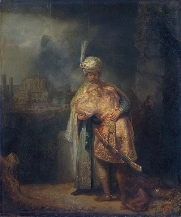 Рембрандт не единожды обращался к этому персонажу, он написал в том числе картину «Давид и Ионафан», где изобразил сцену прощания Давида с сыном Саула