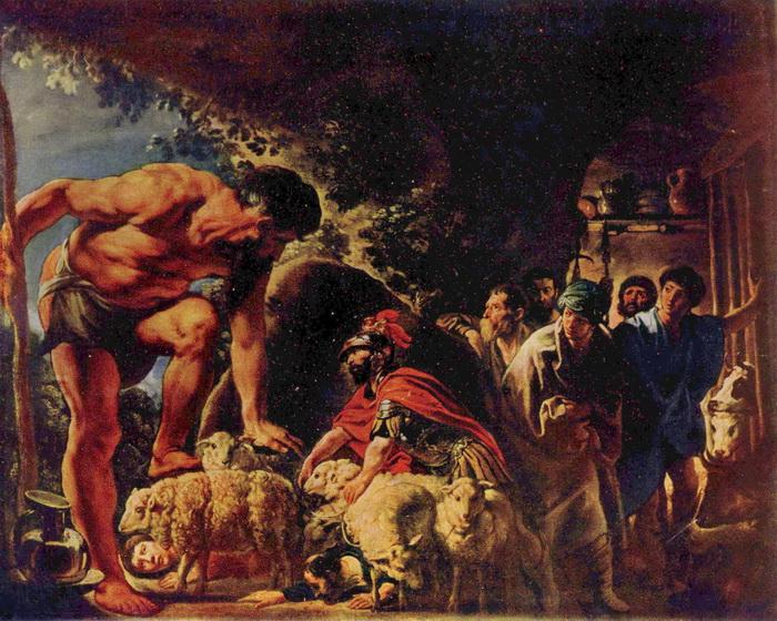 Я. Йорданс. Одиссей в пещере Полифема