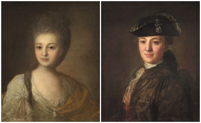 По одной из версий, на портрете, получившем название «Портрет неизвестного в треуголке», первоначально была изображена Александра Струйская