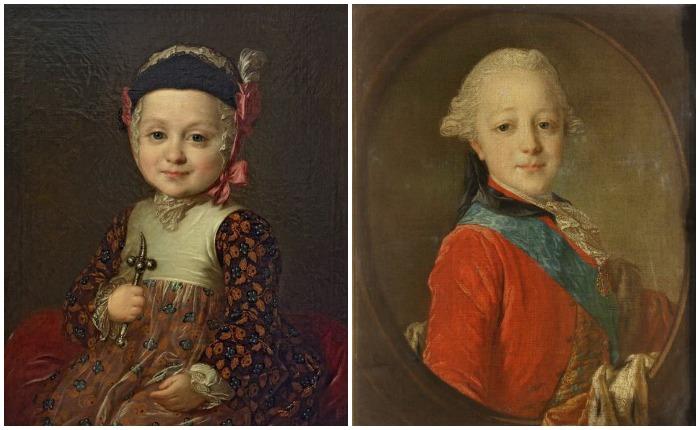 Рокотов написал множество портретов членов императорской семьи, в том числе сыновей Екатерины - Алексея Бобринского и Павла Петровича