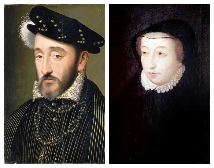 Генрих II и Екатерина Медичи