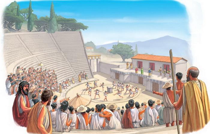 В античном театре царила своя атмосфера. Источник: curriculumvisions.com
