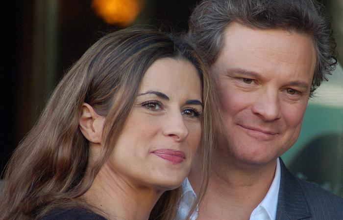 Колин Ферт с женой Ливией. Источник: wikicommons.org
