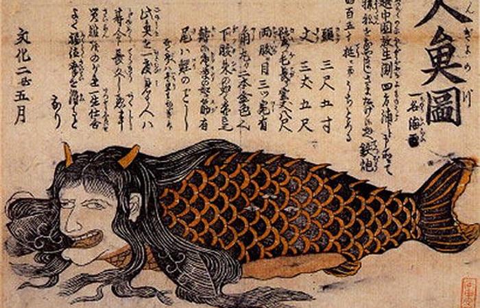 А вот японская русалка-нинге едва ли может быть идеалом юности и женственности - у этого персонажа из древних мифов другие задачи. Источник: pinterest.com
