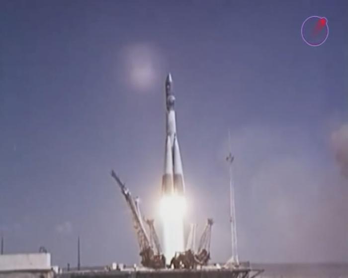 Старт корабля «Восток-2», на котором летел Титов