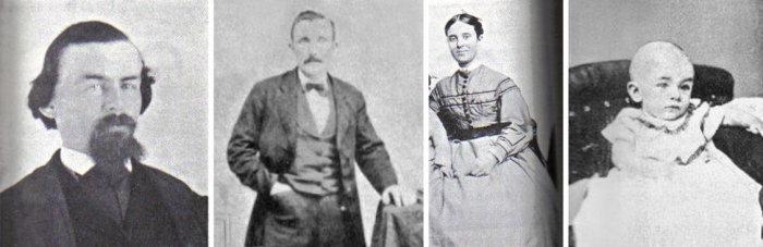 Единственные сохранившиеся фото капитана Бриггса, его жены и дочери, а также первого помощника Альберта Ричардсона