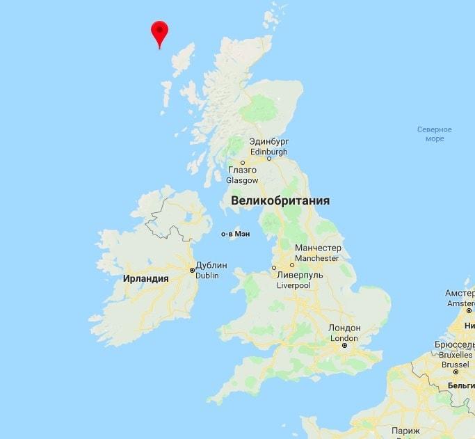 Так острова Фланнан выглядят на карте
