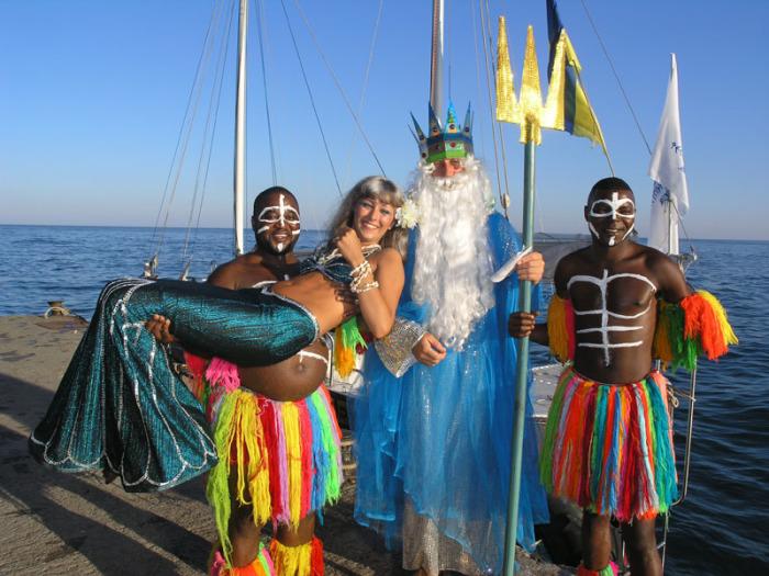Российский День Нептуна - самый красочный