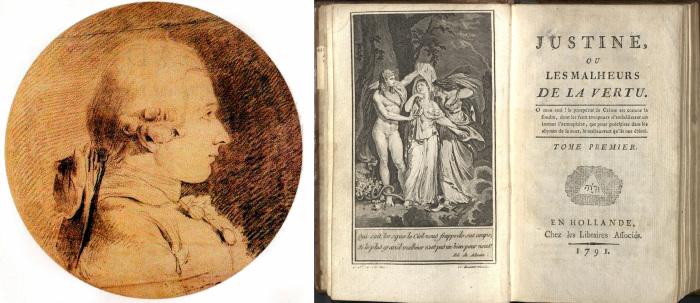 Донасьен Альфонс Франсуа де Сад  и прижизненное издание романа «Жюстина, или несчастья добродетели», 1791