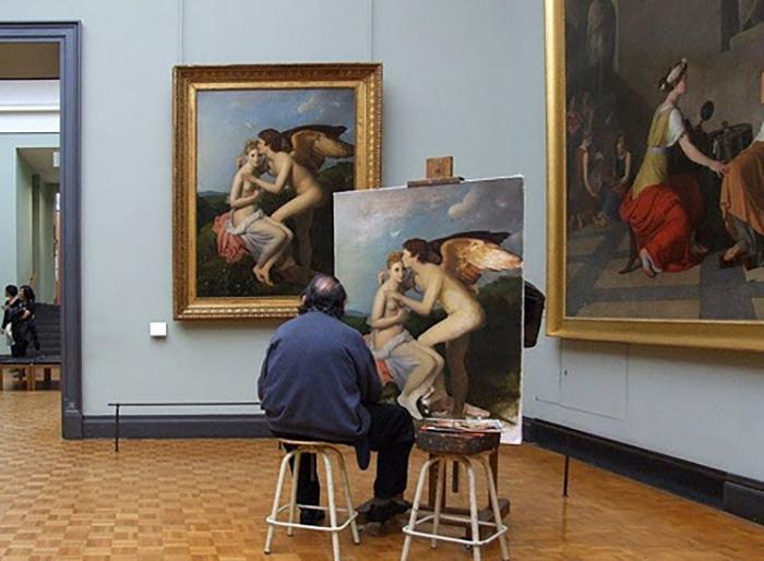 Создание точной копии картины также требует огромного мастерства и таланта
