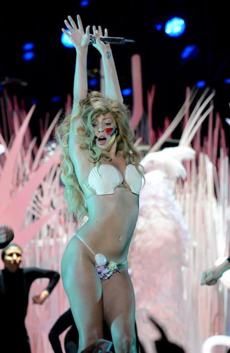 Леди Гага известна своей склонностью к эпатажу, поэтому ее откровенные наряды уже не удивляют