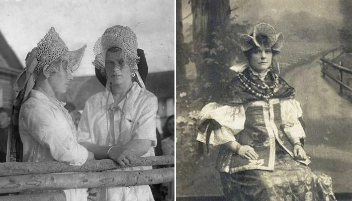 Фотографии девушек северных регионов России. Богатая северная поднизь – богатая и очень красивая часть головного убора.