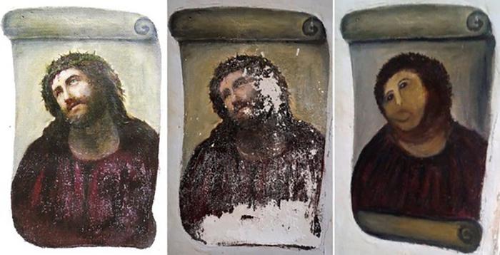Трансформация фрески до «пушистой» версии
