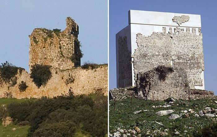 Ремонт замка Матрера с помощью бетона вызвал жаркие споры и волну критики