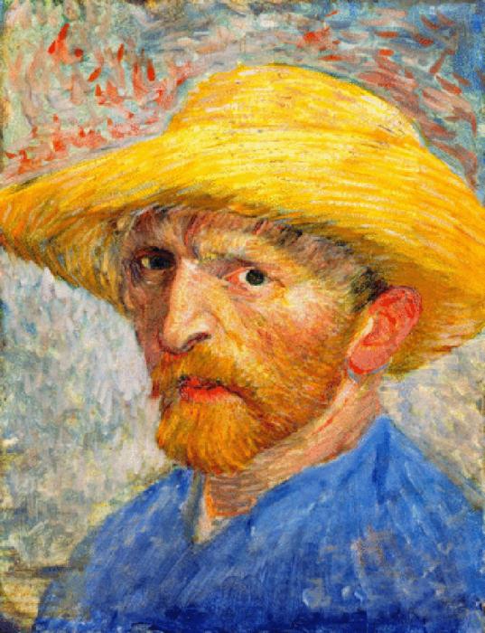 Винсент Ван Гог, Автопортрет в соломенной шляпе