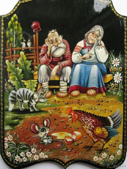 «Курочка ряба» - художественная роспись по дереву