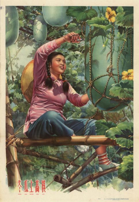 Плакат «Высокая башня зимней тыквы», Китай, 1959 год