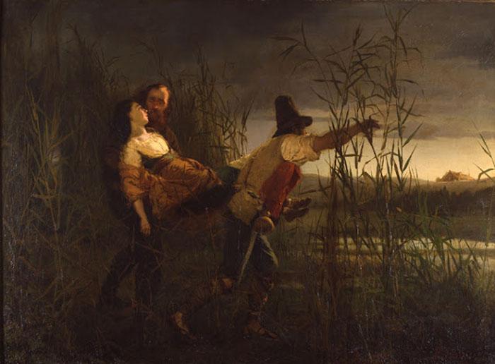 Смерть Аниты Гарибальди на картине Пьетро Бувера