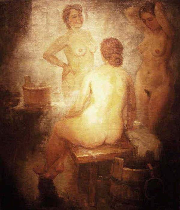 Александр Герасимов, «В бане», 1940 год