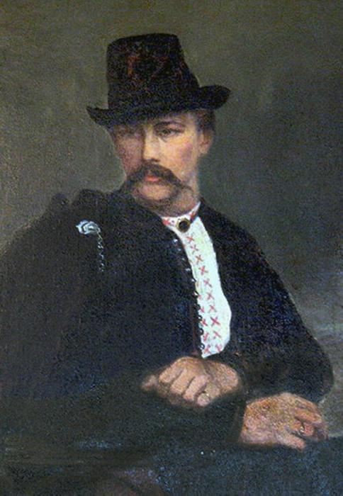 Портрет В.В. Тарновского в национальном костюме, 1860-е годы