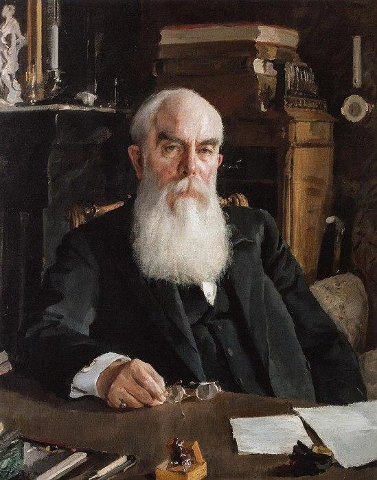 Алексей Иванович Абрикосов, портрет работы В. А. Серова, 1895 год