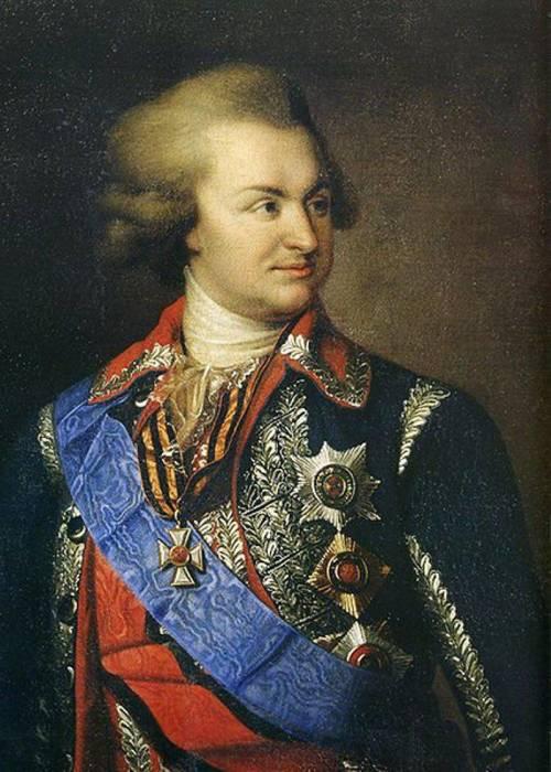 Фаворит и, возможно, тайный супруг императрицы князь Г. А. Потёмкин-Таврический, портрет работы И.Б. Лампи, 1780-е г.