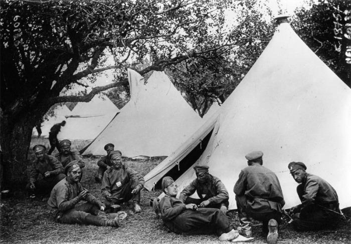 Военный лагерь времен Первой мировой войны