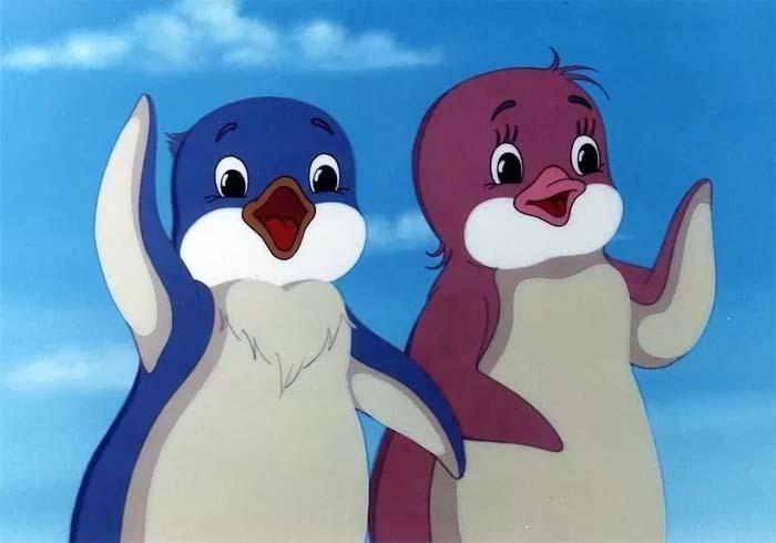 Кадр из м/ф «Приключения пингвиненка Лоло», 1987 год