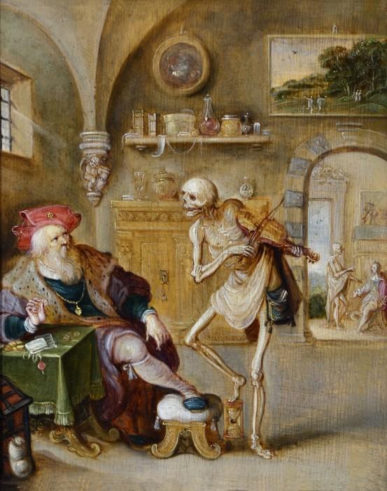 Франс Франкен Младший. Смерть, играющая на скрипке, ок. 1625