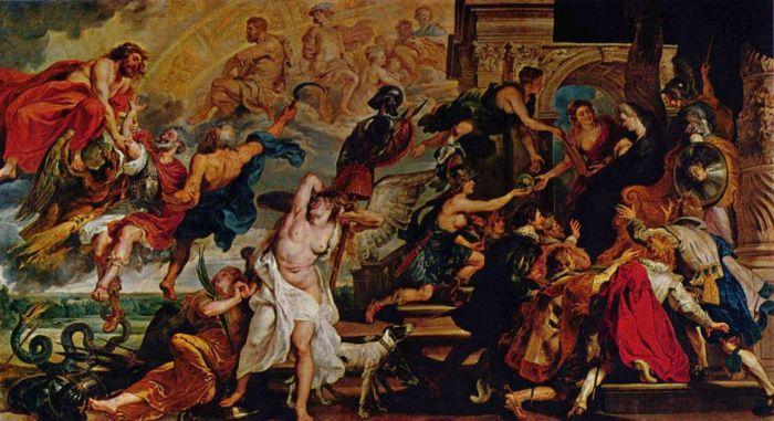 Питер Пауль Рубенс, Смерть Генриха IV и провозглашение регентства