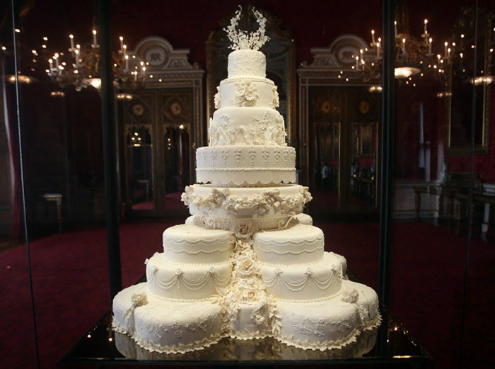 Торт, приготовленный для свадьбы принца Уильяма и Кейт Миддлтон