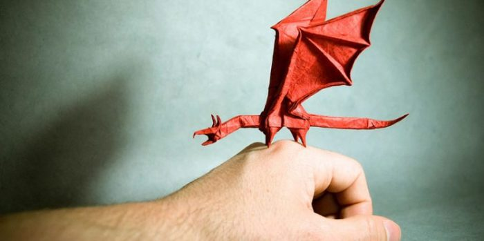 Гонсало Гарсия Кальво, оригами «Дракон»